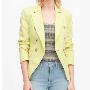 Banana Republic Linen-Cotton Blazer 0P